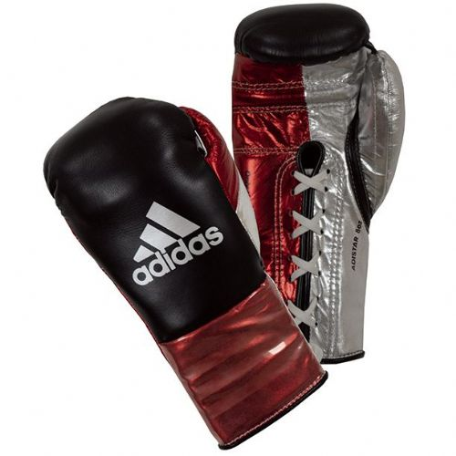 Adidas Adistar Pro Boxing Gloves - Black/Red